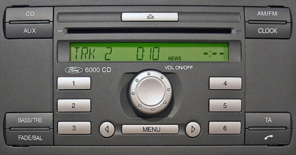 how to put radio code in ford fiesta