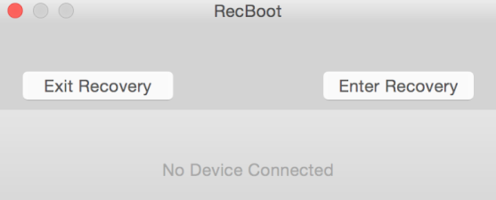 RecBoot iPhone Recovery Mode
