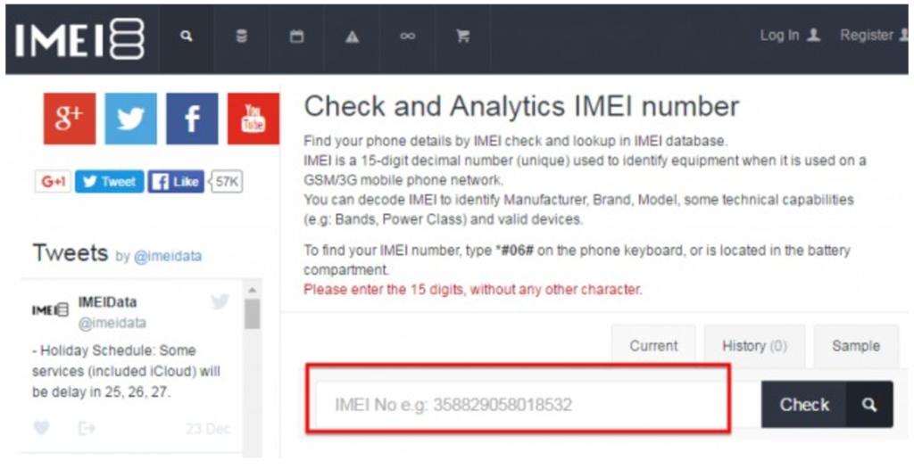 iPhone IMEI Checker by IMEIdata