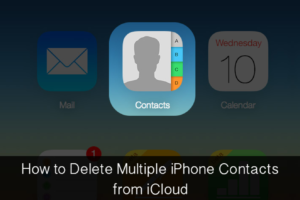 delete contacts on iPhone