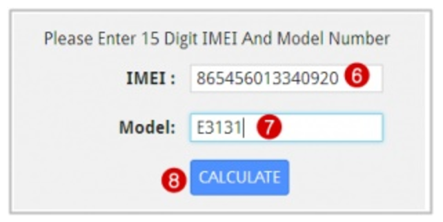 Huawei Modem Calculate